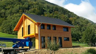 Maison ossature bois Maison à ossature bois construite à Chambéry en Sa