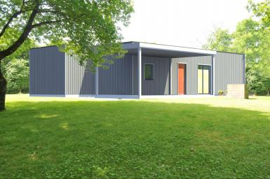Photo Maison d'architecte en bois modulable Moderne 1