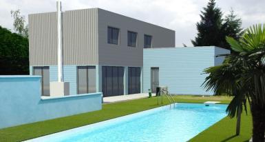 Photo Maison ossature bois, le choix d'une maison modern