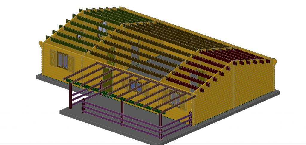maison de jardin avec ossature bois style loft de 104m 104 m 30222 ttc livr mont cl en. Black Bedroom Furniture Sets. Home Design Ideas
