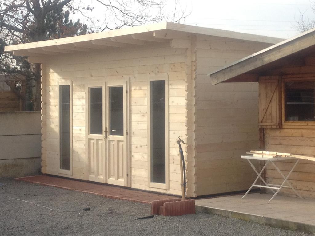 Maison de jardin avec ossature bois montpellier 20 m 20 - Bureau de jardin prix ...