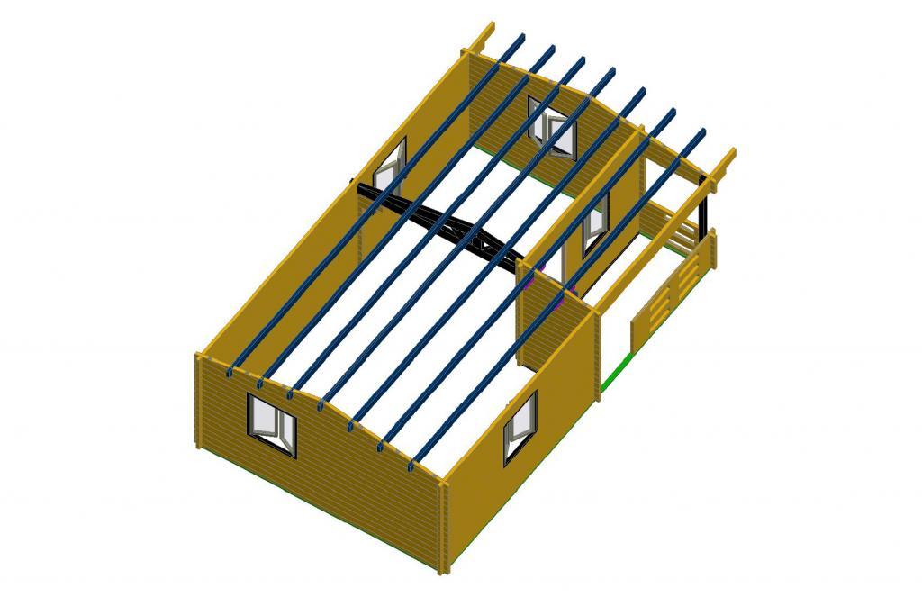 Chalet habitable de loisirs 40m2 en bois en kit for Esstisch 2 40 m
