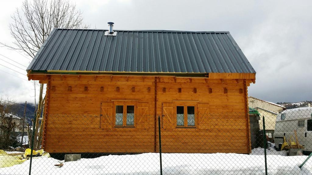 maison de jardin avec ossature bois de 42m2 avec mezzanine 40 m 24150 ttc livr mont cl. Black Bedroom Furniture Sets. Home Design Ideas
