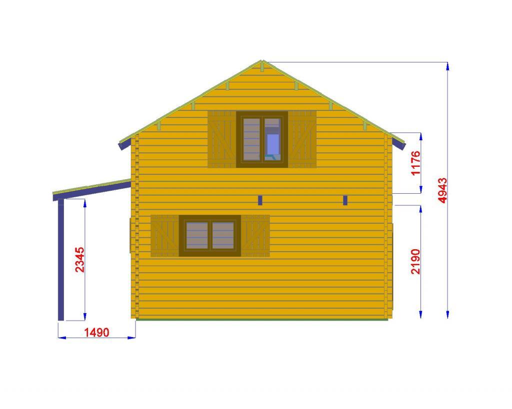 Chalet habitable de 35 m avec tage en bois en kit avec for Paiement construction maison