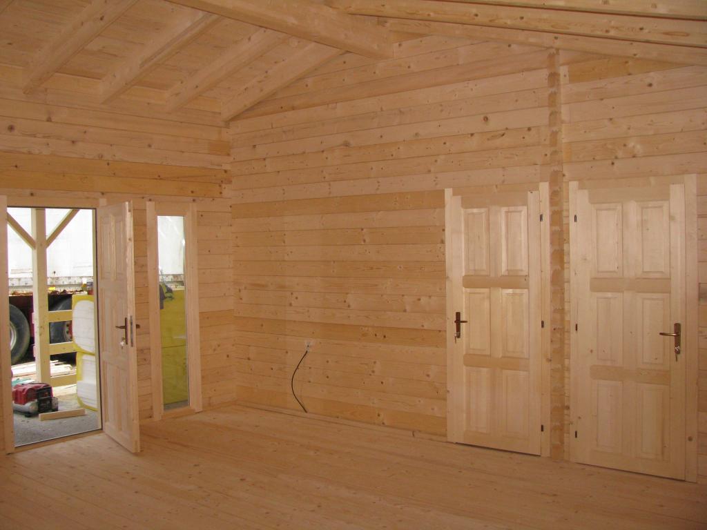 Chalet habitable de 48 m une terrasse de 16 m en bois for Chalet en bois habitable