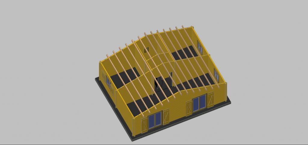 maison de jardin avec ossature bois de 49 m 49 m 20919. Black Bedroom Furniture Sets. Home Design Ideas