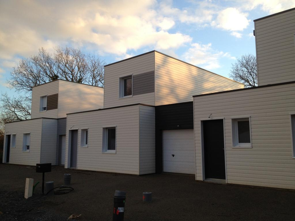 Photo suppl mentaire maison ossature bois rh ne 69 trois maisons b for Construction en bois sur mesure
