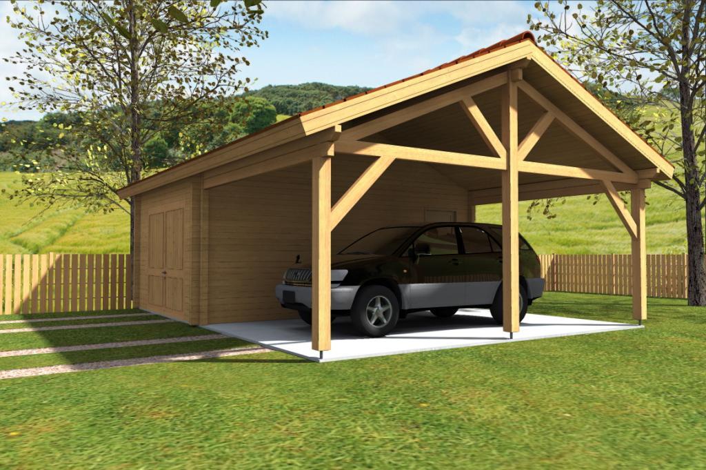 photo supplmentaire garage en bois simple yvelines avec son carport 45 m - Comment Construire Un Garage En Bois