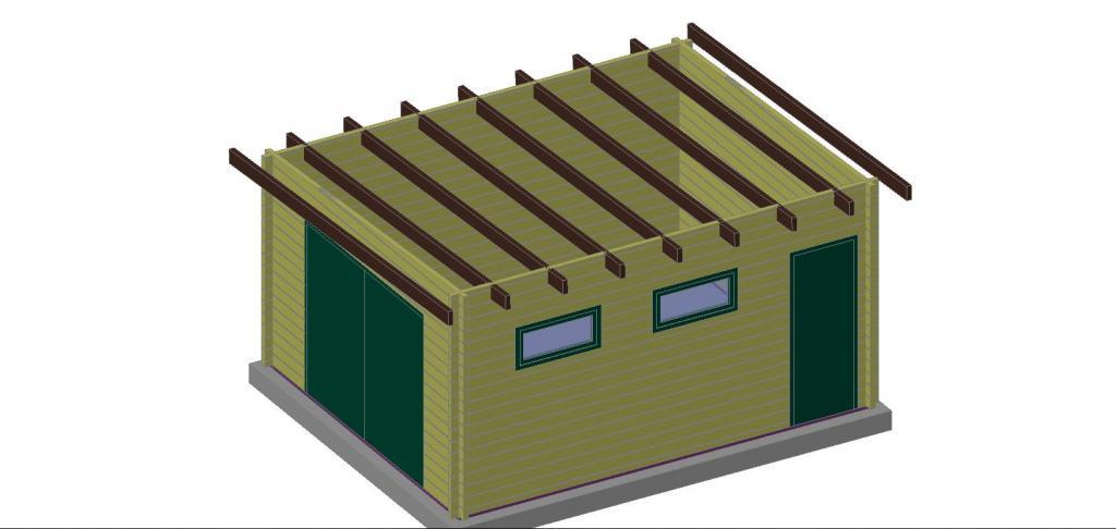 garage en bois : sans permis de construire - Construire Garage Bois Toit Plat