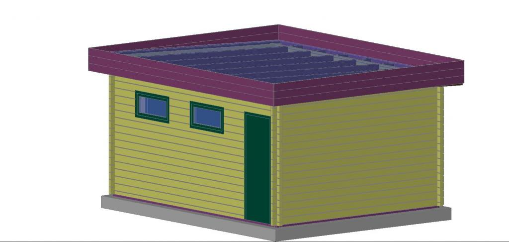 construire garage bois toit plat id e int ressante pour la conception de meubles en bois qui. Black Bedroom Furniture Sets. Home Design Ideas