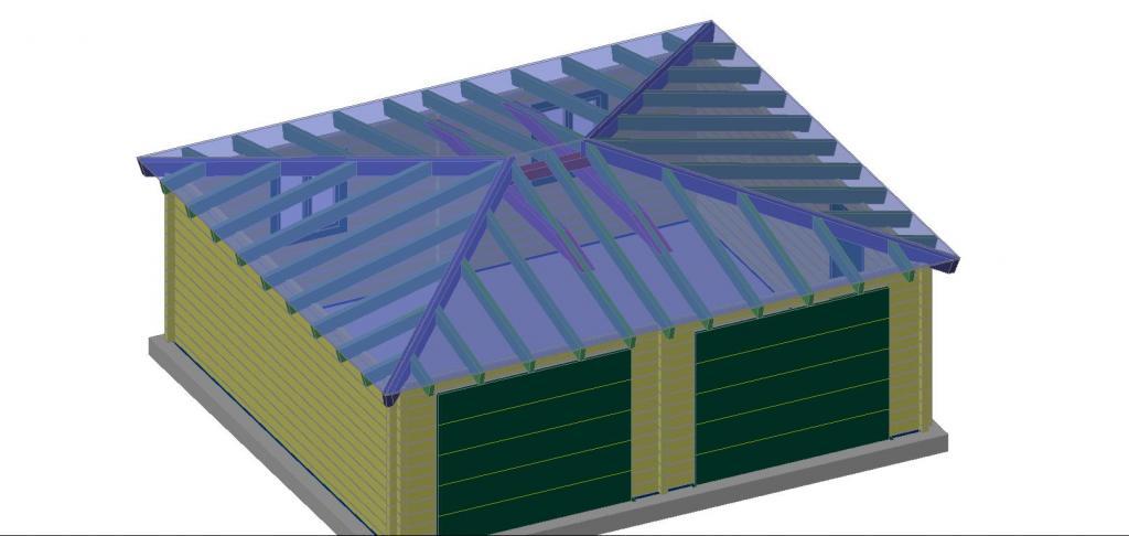 Photo supplémentaire Garage en bois double Gironde ~ Construction Bois Gironde