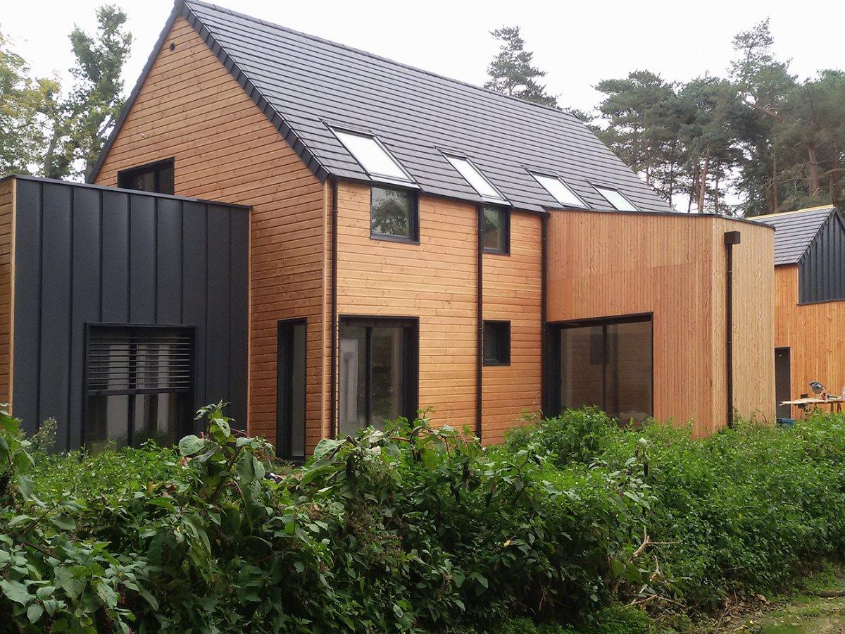 Maison oosature bois d 39 architecte dans les yvelines for Architecte ossature bois