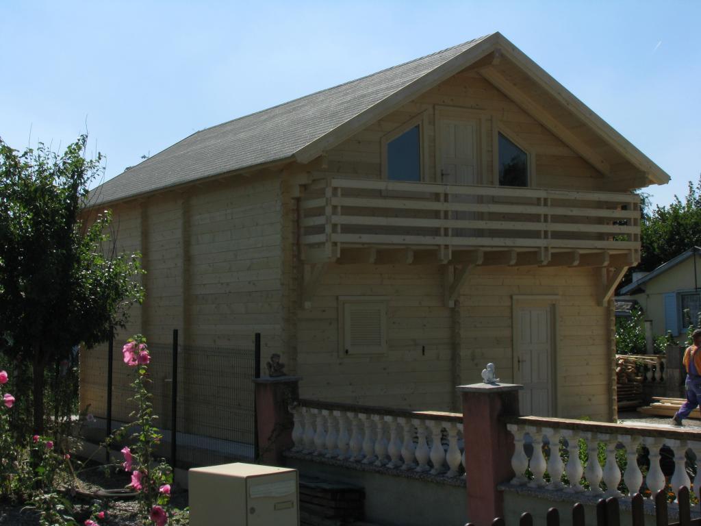 maison de jardin avec ossature bois en kit 96 m 96 m 42366 ttc livr mont cl en main. Black Bedroom Furniture Sets. Home Design Ideas