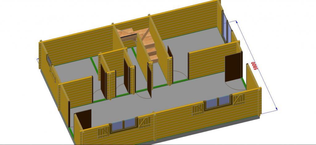 maison bois en kit 96 m en bois en kit avec mezzanine. Black Bedroom Furniture Sets. Home Design Ideas