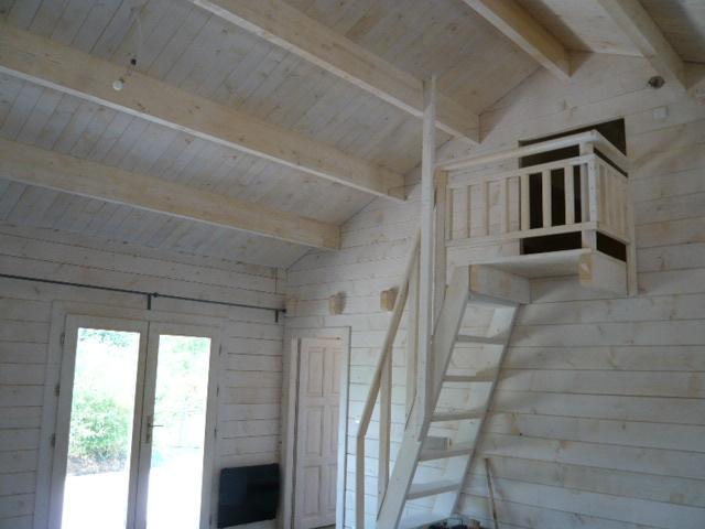 Maison de jardin avec ossature bois en kit de 108m 108 m 37674 ttc livr - Prix maison en bois en kit cle en main ...