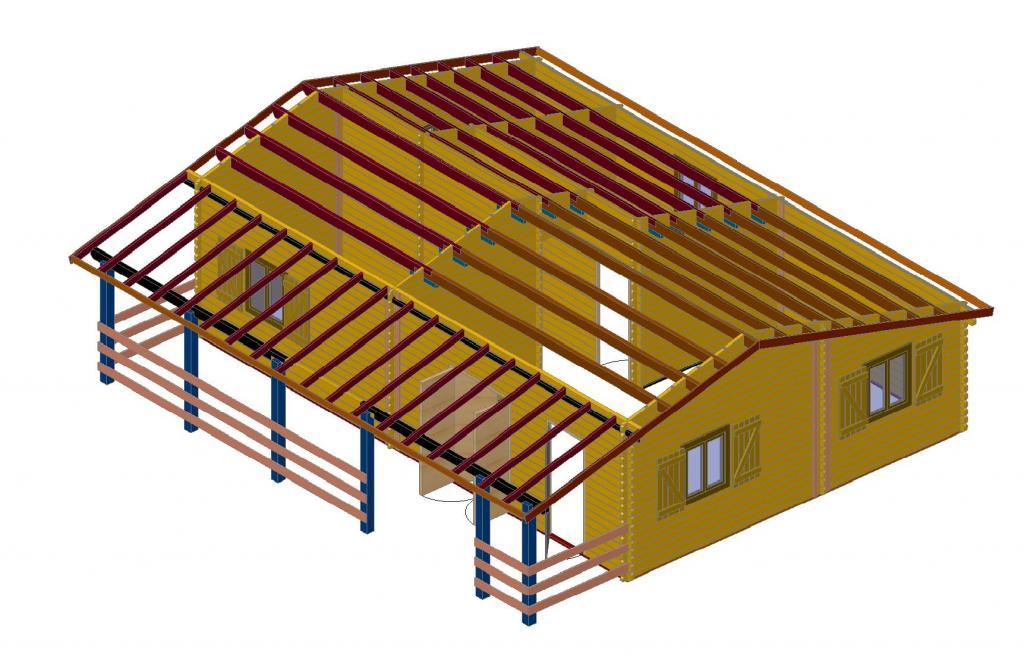 Chalet habitable de 70m2 en bois en kit for Construction maison en kit bois