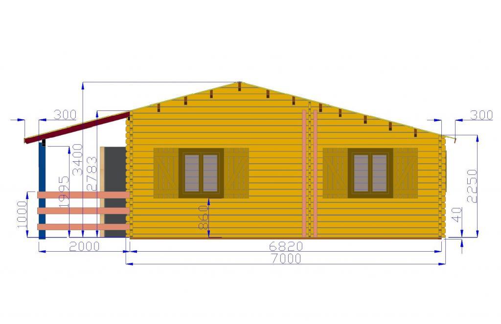 Favori Chalet Habitable de 70m2 en bois en kit HR42