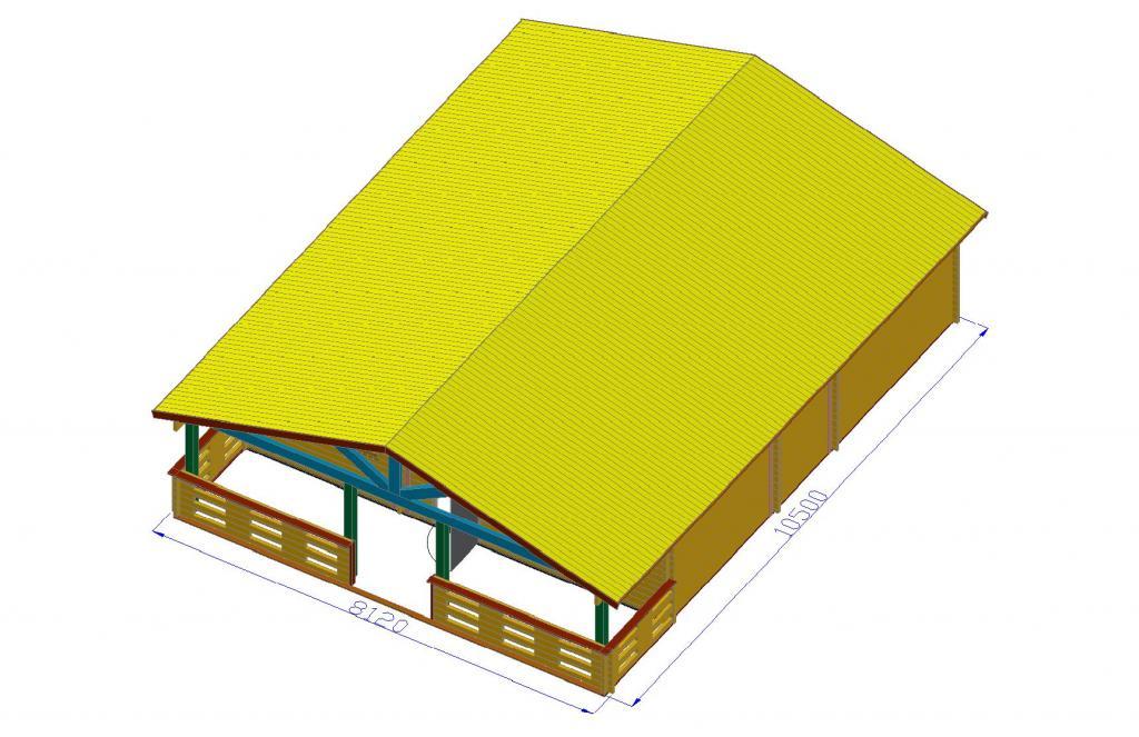 Construction Maison Bois Pas Cher - de loisirs 68m2 Chalets Habitables en bois en kit