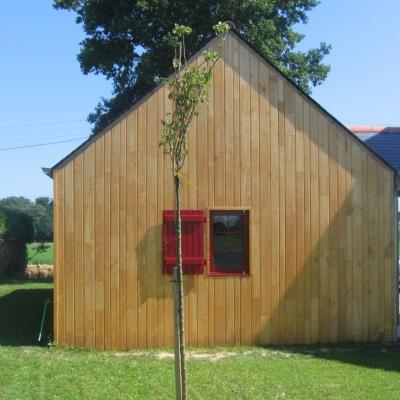 Photo Bardage châtaignier sur maison ossature bois :