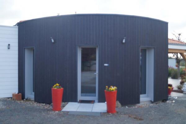 Photo Maisons bois avec bardage couleur