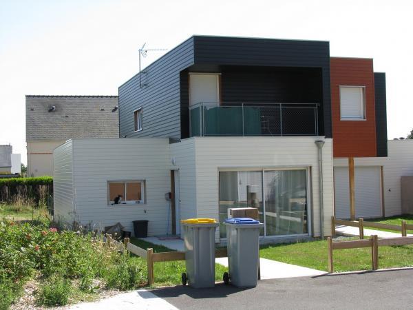 Maison ossature bois for Construction maison en bois 69