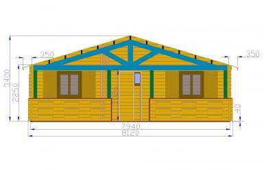 de loisirs 68m2 chalets habitables en bois en kit sans. Black Bedroom Furniture Sets. Home Design Ideas