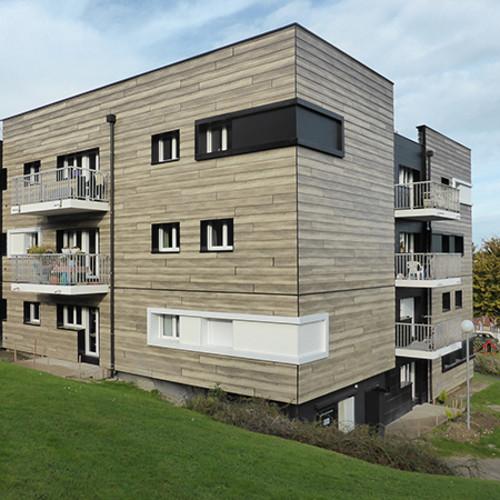 Photo Maisons bois avec panneaux Fundermax: