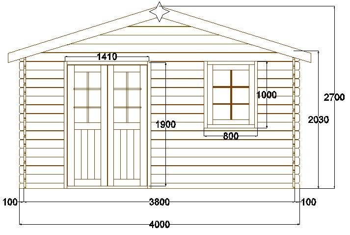 Abri de jardin pyr n es 12 m en bois en kit sans permis for Chalet de jardin 12m2