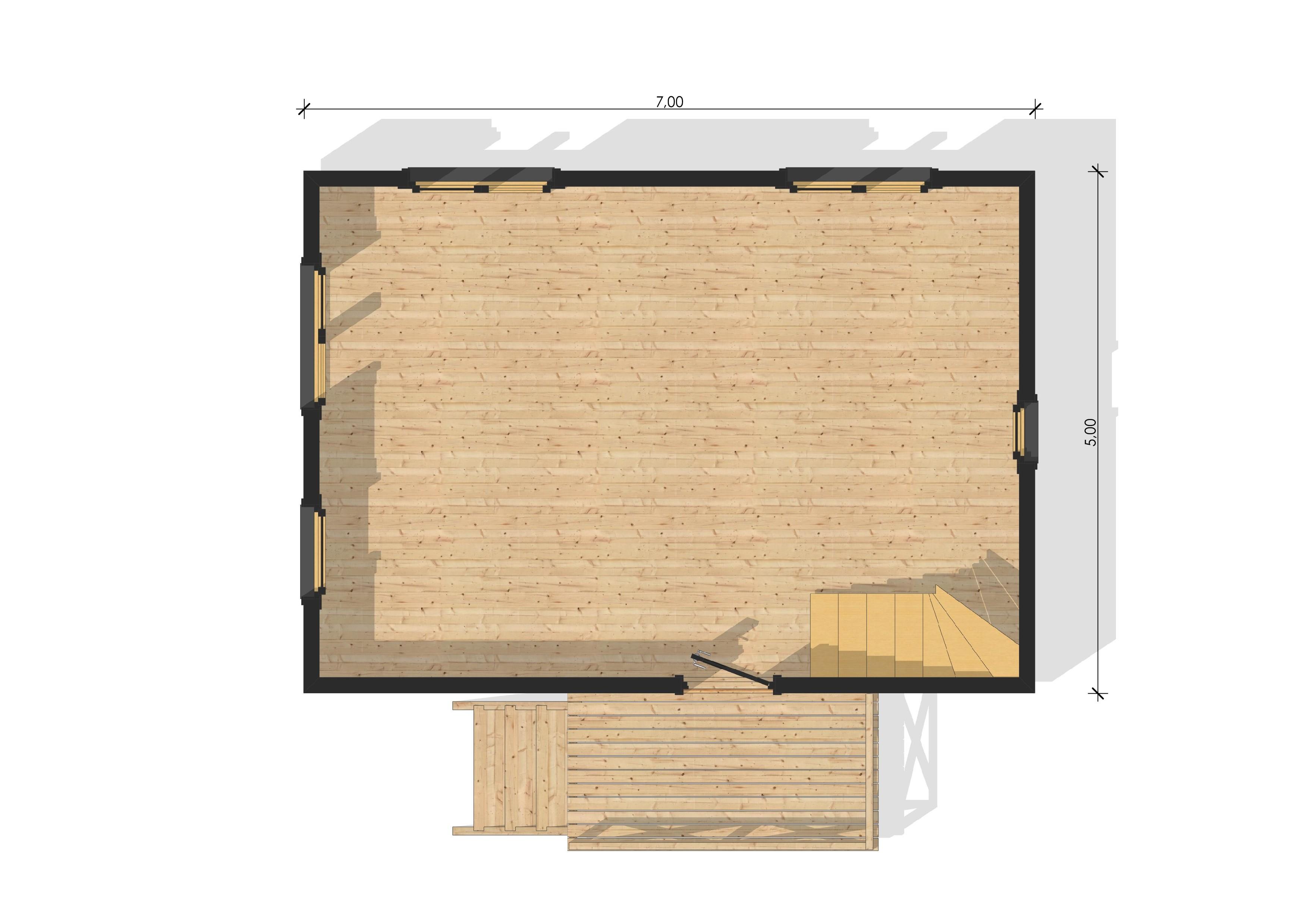 Maison de jardin bretagne en bois en kit - Plan de maison bretagne ...