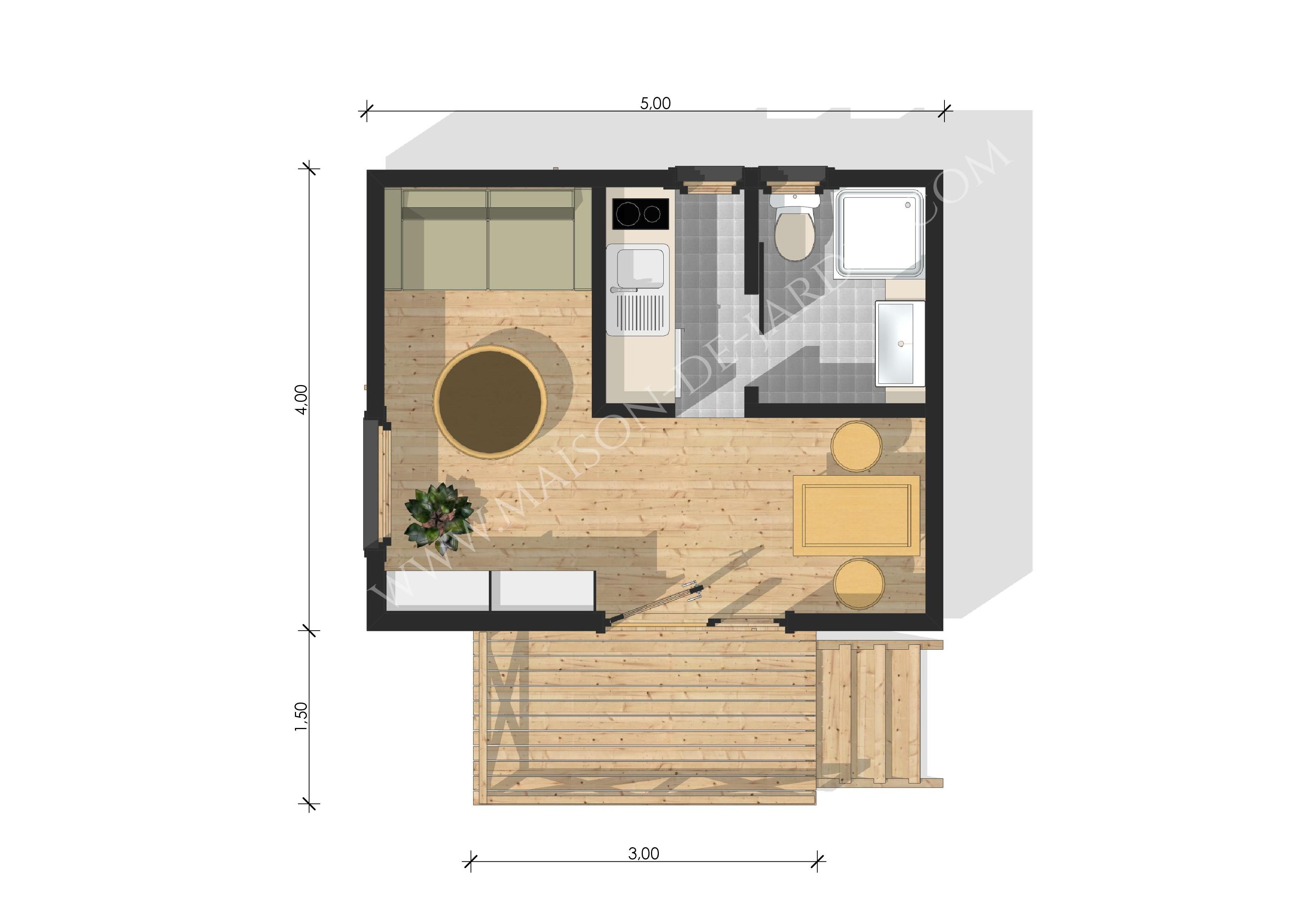 maison de jardin cannes en bois en kit sans permis de construire. Black Bedroom Furniture Sets. Home Design Ideas