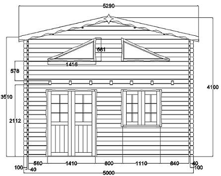 Chalet habitable paris 20m mezzanine 10m en bois en kit Plan chalet bois