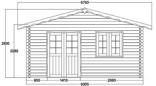 Plan vend e 35m for Construction maison en bois vendee