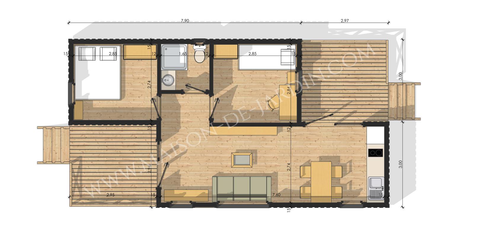 maison de jardin essonne en bois en kit. Black Bedroom Furniture Sets. Home Design Ideas