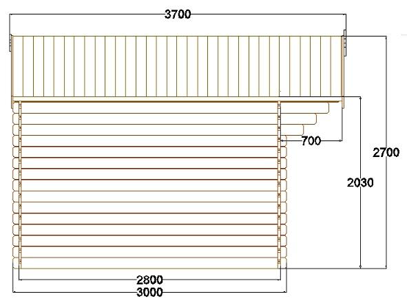 Abri de jardin pyr n es 12 m en bois en kit sans permis for Abri de jardin permis de construire