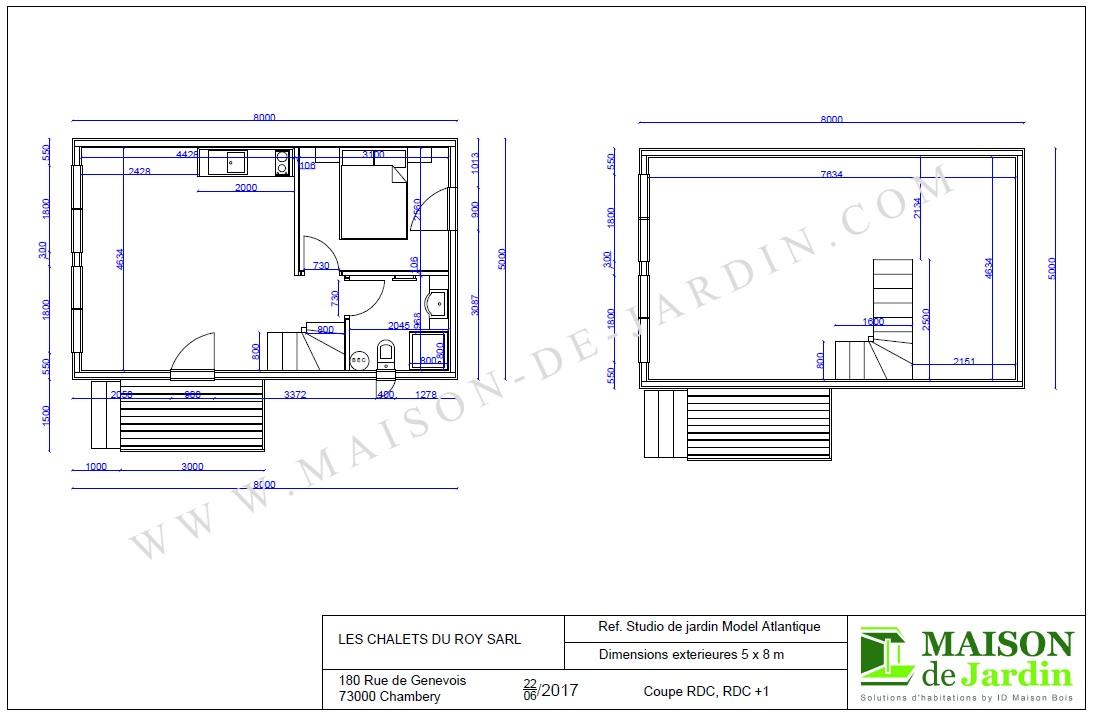 Maison De Jardin Avec Ossature Bois Atlantique 75 M² : 57645 € Ttc