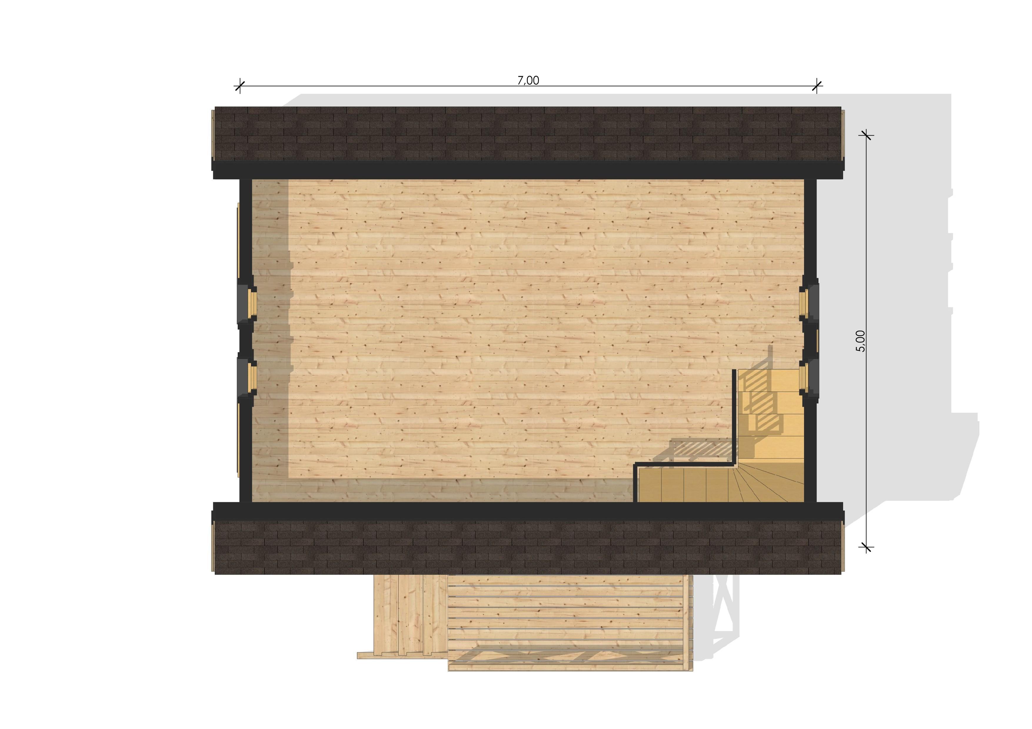 Maison de jardin bretagne en bois en kit for Plan maison jardin