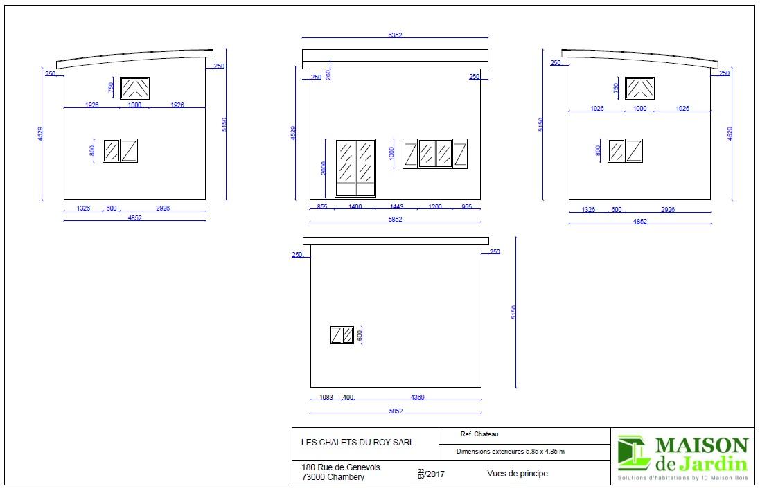 Maison de jardin occitanie en bois en kit for Plan maison jardin