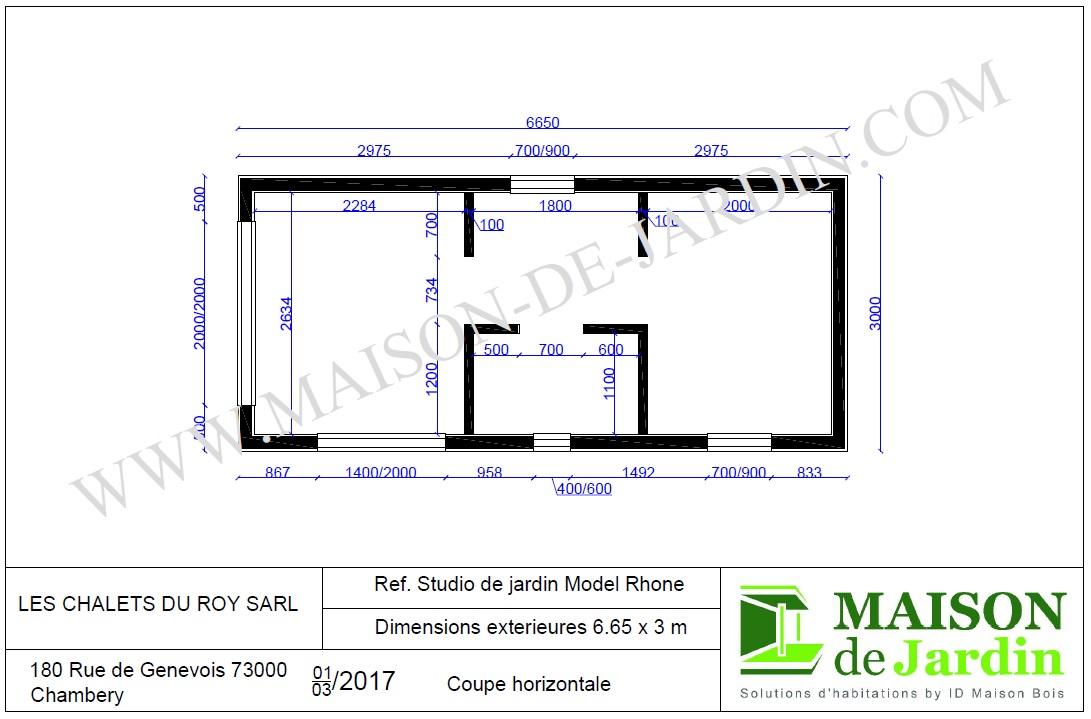 Maison de jardin rhone en bois en kit sans permis de for Maison en bois sans permis de construire
