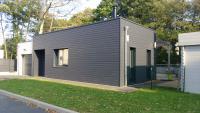 Maison ossature bois Construction maison bois contemporaine sur vide sa