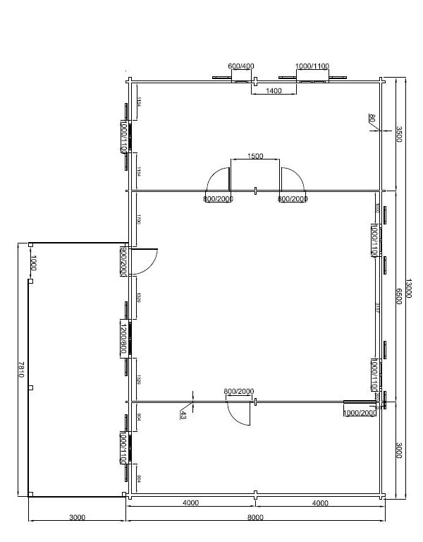 plan style loft de 104m²