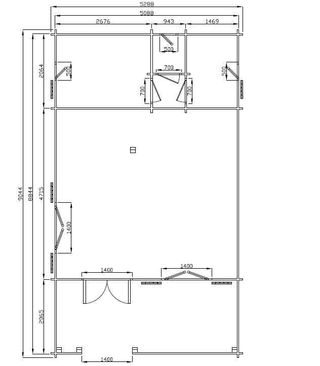Chalet habitable digne 60 m2 en bois en kit avec mezzanine Plan chalet bois