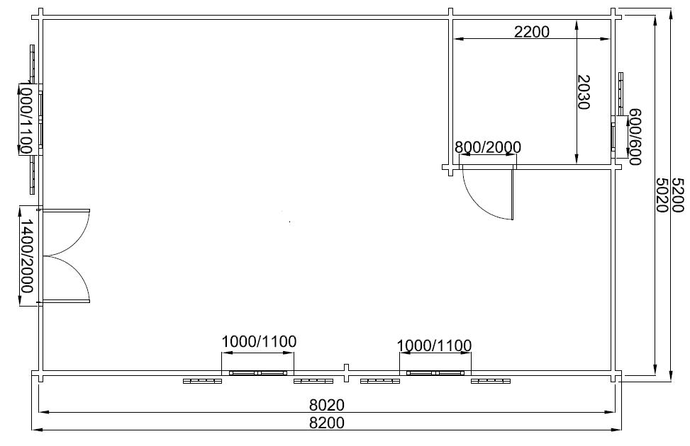 Maison de jardin avec ossature bois de 42m2 avec mezzanine 40 m² ...