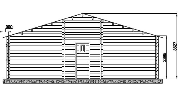 Chalet habitable de 49 m en bois en kit for Construction bois 49