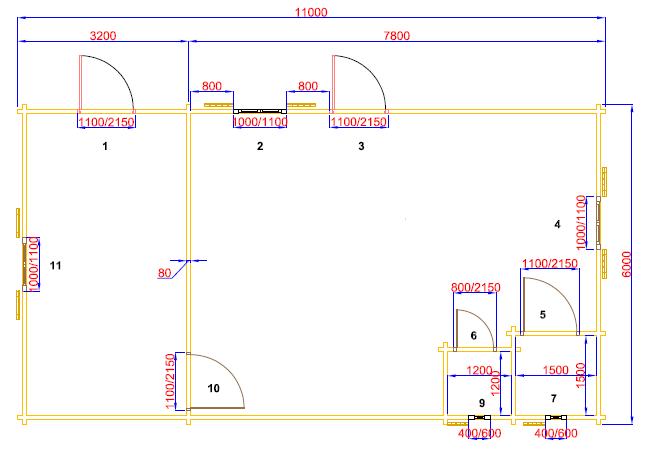 plan  de 66 m²