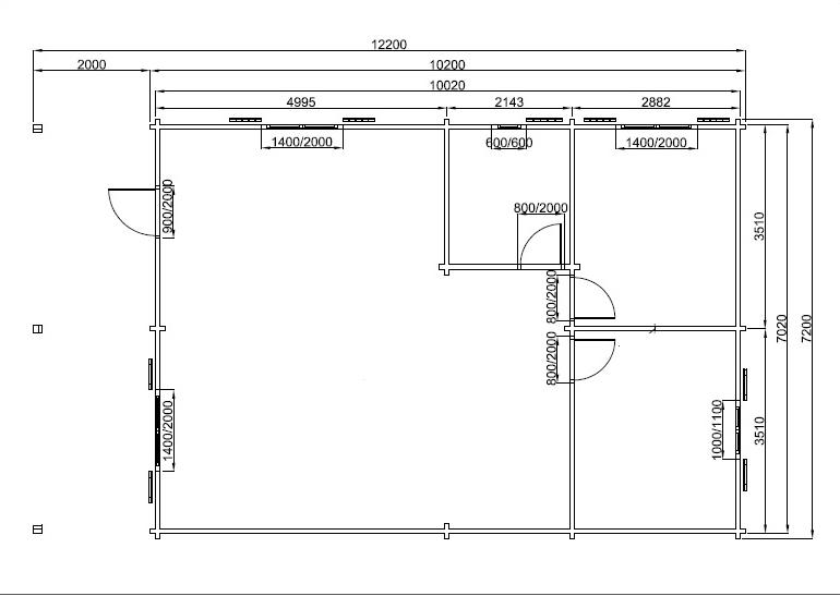 plan de 73 m² avec une terrasse couverte de 14 m²