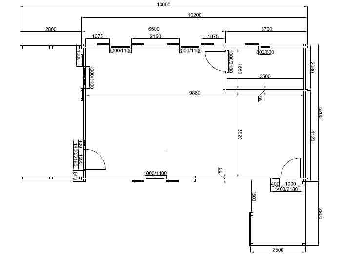 plan de 80m²