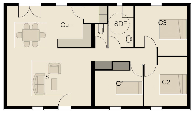 Constructeur maison bois france maison ossature bois en for Constructeur de maison en kit