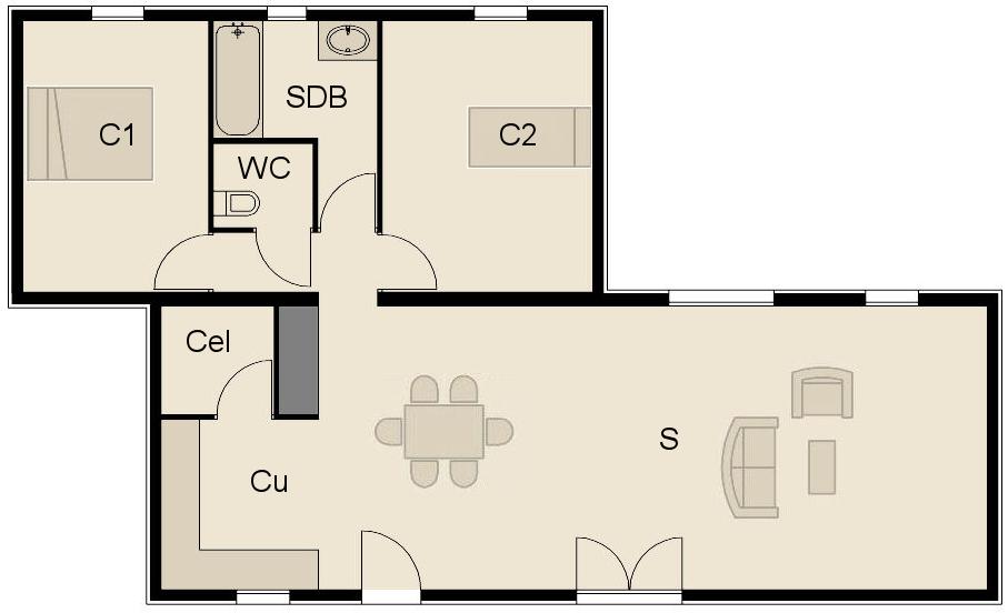 plan fa ade maison ossature bois livraison de votre maison bois pr t finir. Black Bedroom Furniture Sets. Home Design Ideas