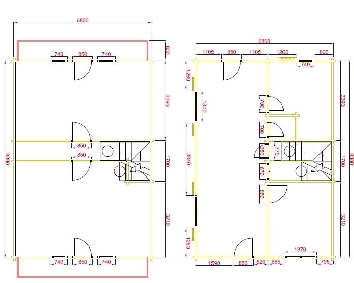 plan  en kit 96 m²