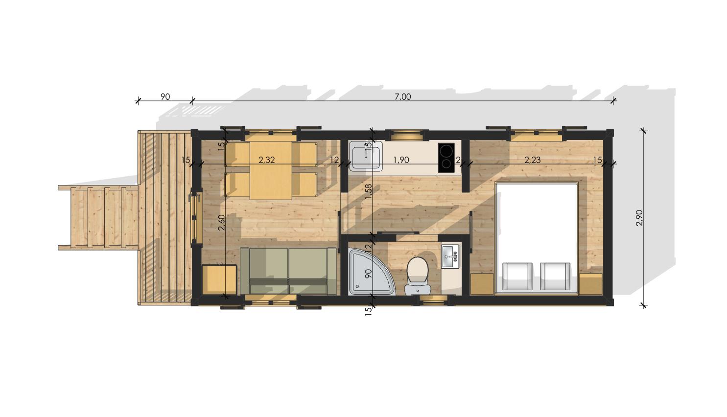 roulottes en bois. Black Bedroom Furniture Sets. Home Design Ideas